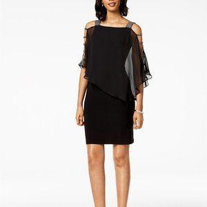 MSK Embellished Dress Black/Gunmetal Size L